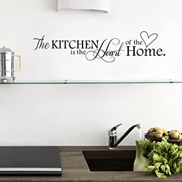 Wandbilder Küche ufengke the kitchen is the of the home wandtattoo spruch