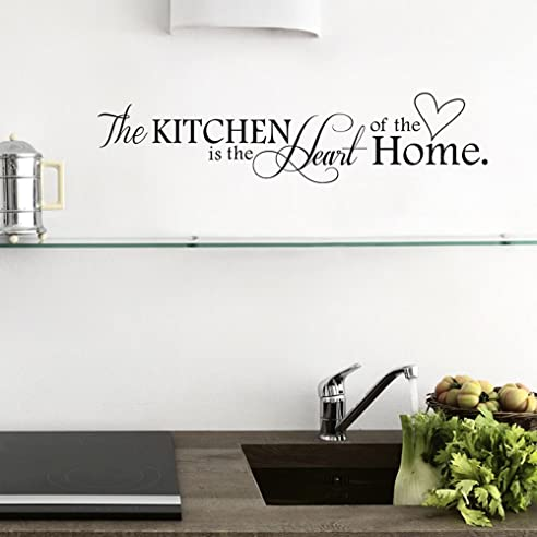 "Ufengke® ""The Kitchen Is The Heart Of The Home"" Wandtattoo Spruch"