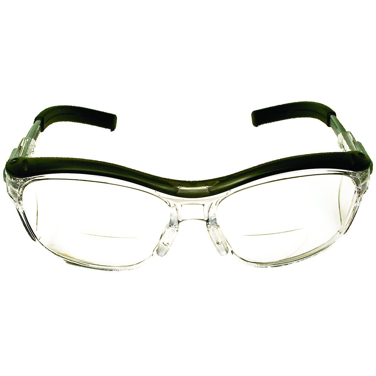 3M Nuvo Reader Protective Eyewear, 11434-00000-20 Clear Lens, Gray Frame, +1.5 Diopter(Pack of 1)
