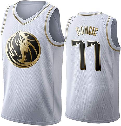 Jersey NBA Dallas Mavericks 77 Doncic Jersey de Baloncesto Bordado ...