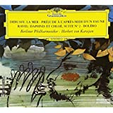 Debussy La Mer / Prelude Ravel Daphnis Chloe Bolero by Karajan (2008-02-12)