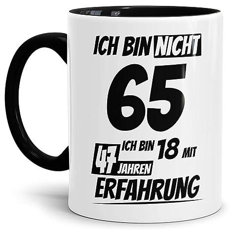Geburtstags Tasseich Bin 65 Mit 47 Jahren Erfahrung Innen Henkel Schwarzgeburtstags Geschenkgeschenk Ideelustigmit Spruchwitzigspaßbeste