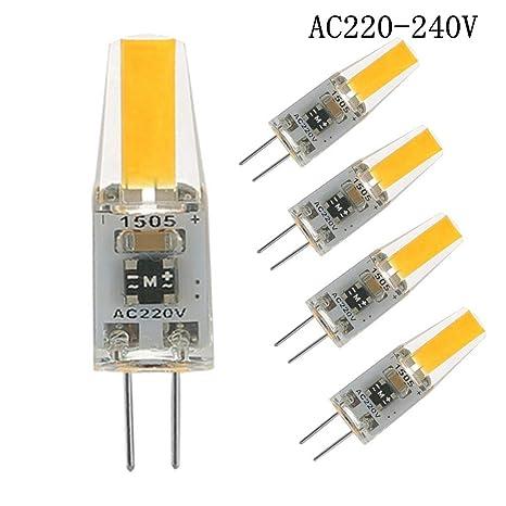 G4 LED 220v, 2W Bombillas LED Equivalente a 20W Halógeno, Blanco Cálido 2700K 200LM