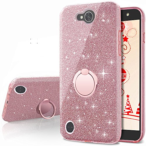 online store 1f5c4 c8ac0 LG X Power 2 Case,LG X Charge Case,LG Fiesta 2 Case, LG Fiesta LTE Case,LG  K10 Power Case,Silverback Girls Bling Glitter Sparkle Case with Ring Stand,  ...
