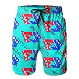 Oct USA Wrestling Logo With Liner Mens Boardshorts Swim Trunks Tropical Workout Board Shorts Boardies Swim