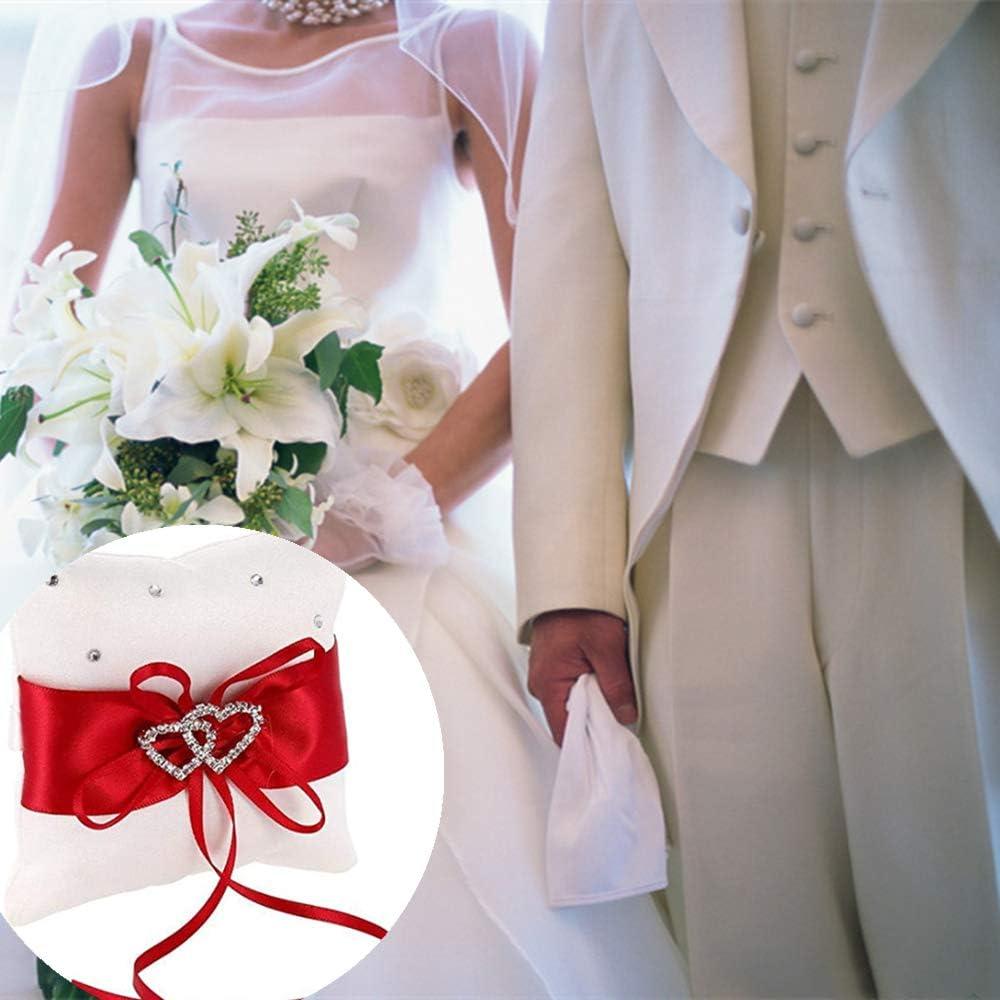 anello doppio cuore portatore cuscino per anelli di nozze accessori di nozze Cuscino per anelli di nozze anello di nozze