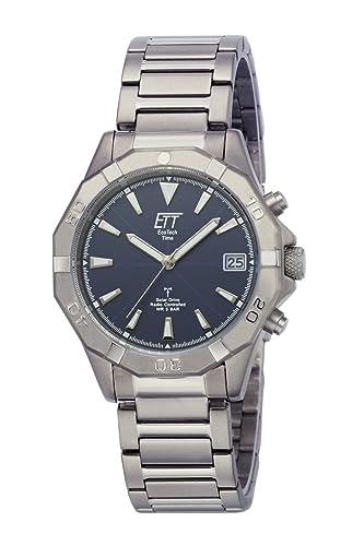 Eco Tech Time Solar Drive RC Alaska Titanio Reloj de hombre EGT de 11356 - 20 m, titanio Reloj de pulsera: Amazon.es: Relojes