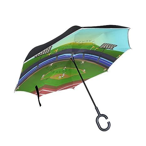 9550f6236e66 Amazon.com : Jojogood Baseball Match Inverted Umbrella Reverse Auto ...