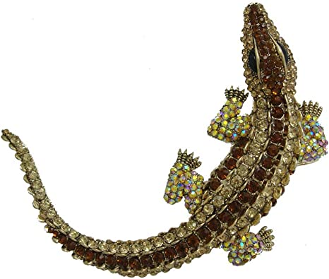 Animal pin Crocodile Jewellery Vintage Aligator Brooch Crocodile Jewelry Vintage Crocodile brooch Aligator Pin. Rhinestone Crocodile