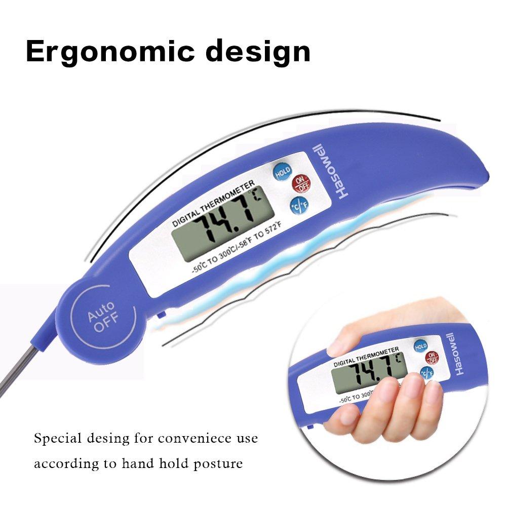 Termómetro digital de carne para cocinar alimentos, termómetro de lectura instantánea, termómetro electrónico de carne, sonda segura con retroiluminación ...