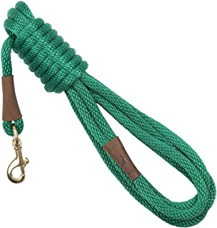product image for Mendota Pet Long Snap Leash - Dog Training Lead - Made in The USA - Kelly Green, 1/2 in x 15 ft