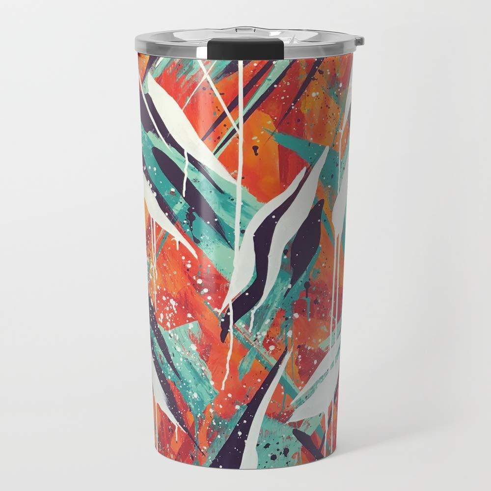 Society6 Ceramic Coffee Mug, 20 oz oz, Solar Flare abstract by bospencer