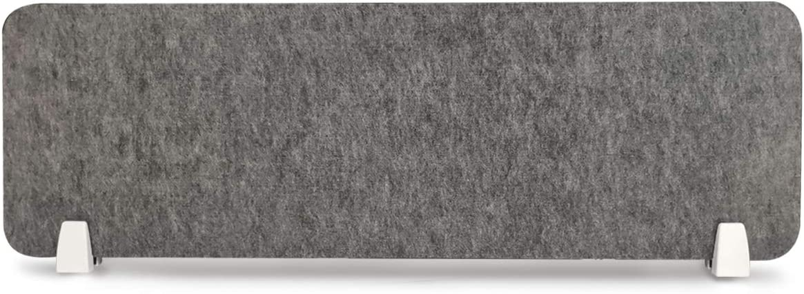 uyoyous Desk Privacy Panel 40x12 Inch Acoustic Desktop Privacy Divider Sound Absorbing Cubicle Desktop Mounted Partition in Gray – Reduce Noise and Visual Distractions for Offices Libraries Classrooms