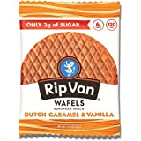 Rip Van Wafels Dutch Caramel & Vanilla Stroopwafels - Healthy Snacks - Non GMO Snack - Keto Friendly - Office Snacks…