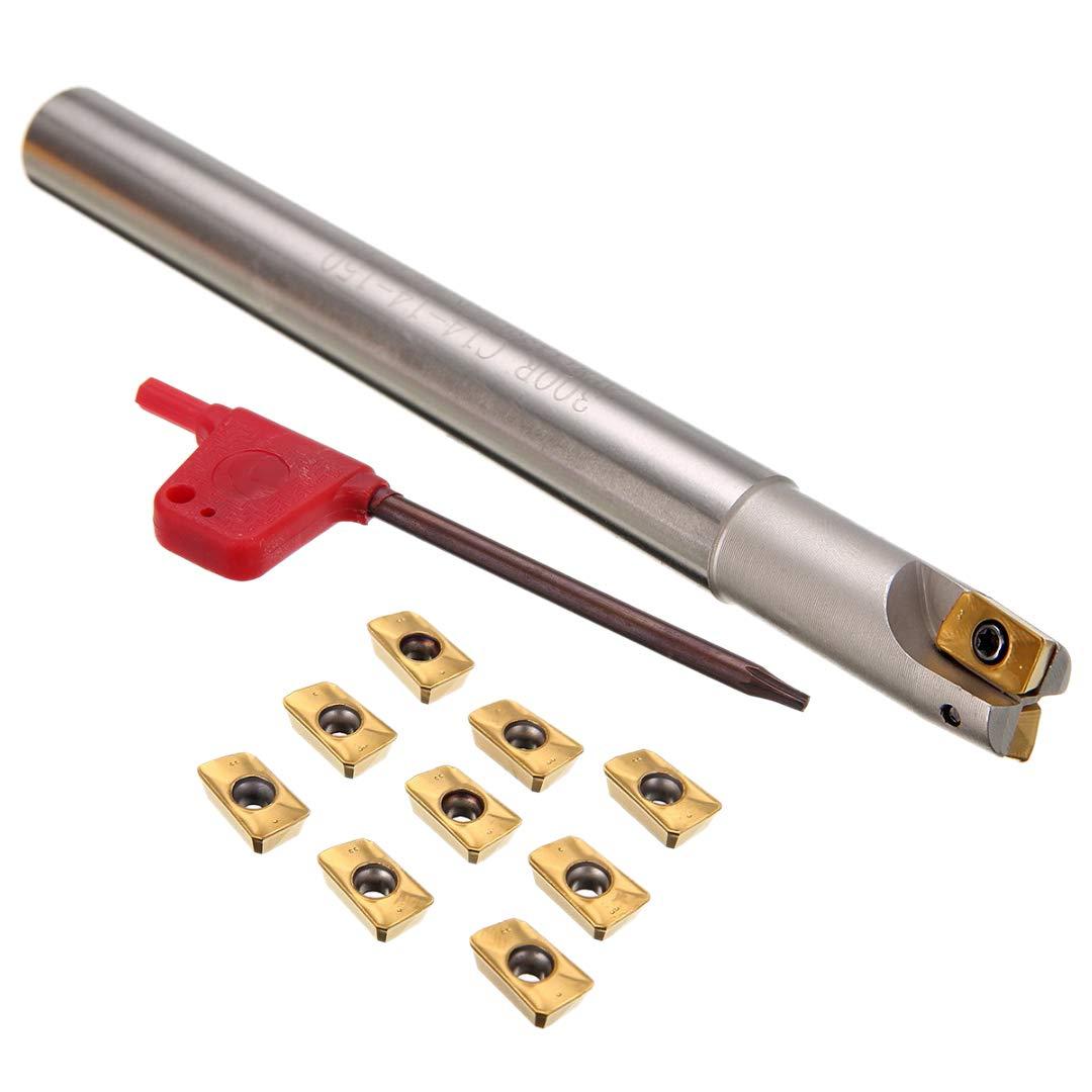 TOOGOO 1 Pc150 Mm Schaft Drehmaschine Drehen Werkzeughalter 300r C14-14-150 Bohrstange + 10 Stücke Apmt1135pder Eins?tze Mit T8 Schraubenschlüssel