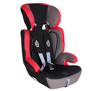 TecTake Silla de coche para niños - Grupos 1/2/3 pesos de 9-36 kg negro/rojo