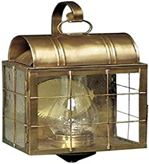 product image for Brass Traditions 111 SHBAB Large Wall Lantern 100 Series, Antique Brass Finish 100 Series Wall Lantern