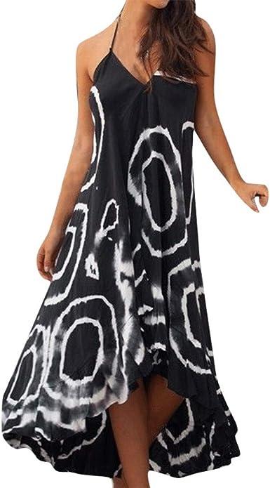 Poachers Vestidos Verano Mujer Fiesta Vestidos Largos Verano Mujer Talla Grande Slim Fit Vintage Moda Vestidos Mujer Casual Tallas Grandes Tirantes Estilo Nacional Impresion Retro Suelto Amazon Es Ropa Y Accesorios