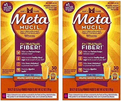 - Metamucil Fiber Sugar Free Orange Powder Packets 30 ct (2 Pack)