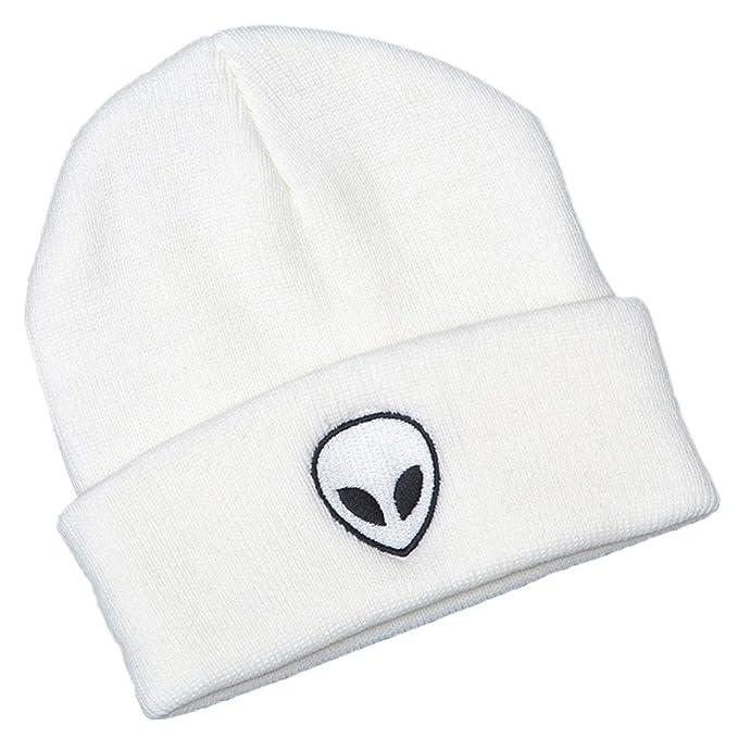 ShallGood Inverno Unisex Ricamo Extraterrestre Caldo Cappello in Maglia Uomo  Donna Moda Beanie Invernale Cappelli Bianco One Size  Amazon.it   Abbigliamento a0e632e4ed4b