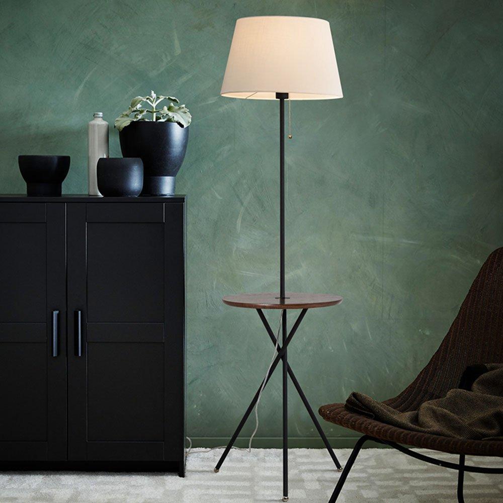 Im europäischen Stil Stehlampe Serie Skandinavischen kreativen Sofa Bett Kopf vertikalen kreisförmigen Zahnstange Stehleuchte Wohnzimmer Schlafzimmer Couchtisch Stehleuchte (Farbe wahlweise freigestellt) - Retro-Stehlampe ( farbe : B )