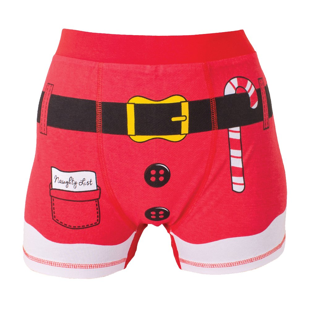 Mens Festive Fun Christmas Boxer Jockey Shorts - Santa Elf Designs