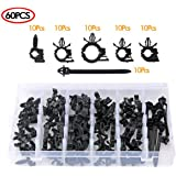 Amazon.com: Auto Clips Car Wire Harness Routing Clip Assortment Wiring  Harness Wire Loom Routing Clips Universal 125 PCS Retainer Car Clips  Contains 6 different sizes Replacement Parts For Honda GM Mazda: AutomotiveAmazon.com