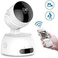Caméra Surveillance WiFi, ROXTAK Caméra IP sans Fil, Caméra de Sécurité avec Cloud, Vision Nocturne, Détection de Mouvement, Audio Bidirectionnel, Pan / Tilt / Zoom pour Bébé /Aîné /Animal, 720P