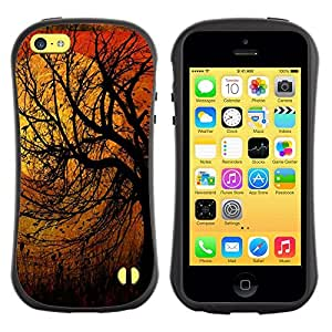 "Hypernova Slim Fit Dual Barniz Protector Caso Case Funda Para Apple iPhone 5C [Naturaleza Pájaros Primavera Otoño Invierno""]"