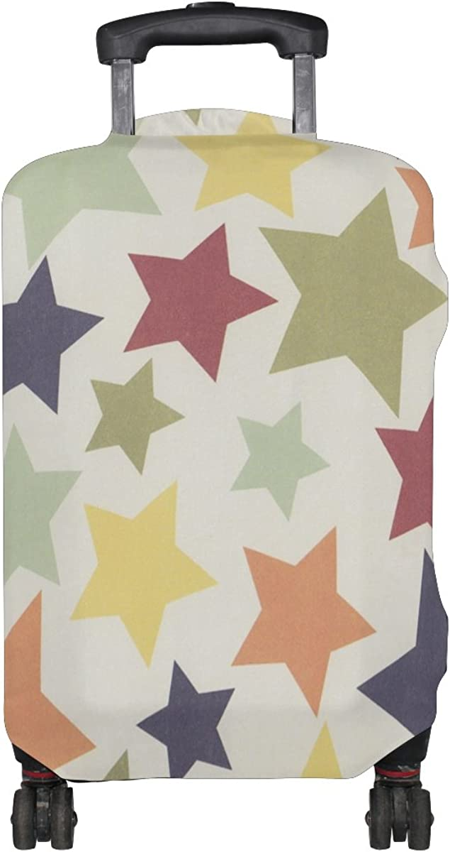 LAVOVO Colorful Stars Luggage Cover Suitcase Protector Carry On Covers
