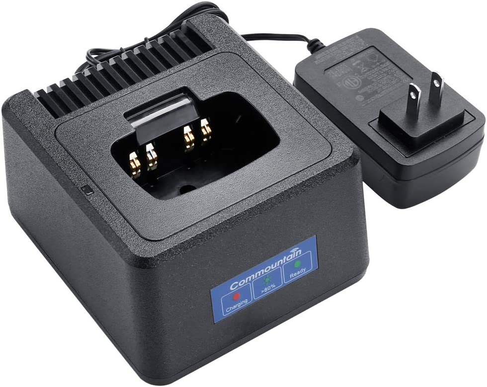 Tri-Chemistry Rapid Charger with Temperature Management Replace Charger PMPN4171 PMLN5048 Single Unit Charger for Motorola Radios BPR40 BPR20 Compatible with Batteries PMNN4071 PMNN4075