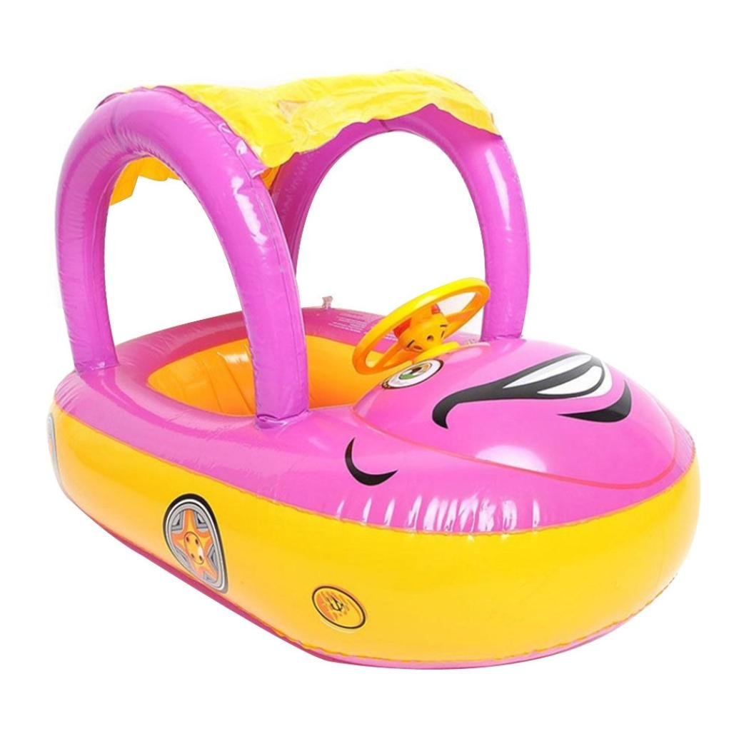 Dartphew Swimming Pool,Dartphew Lovely Cute Outdoor Safety Float Seat Boat Water Car Baby Ring Pool Swim Inflatable Swimming Safe Raft Toy Summer Gift For Kids Baby Children Boys Girls