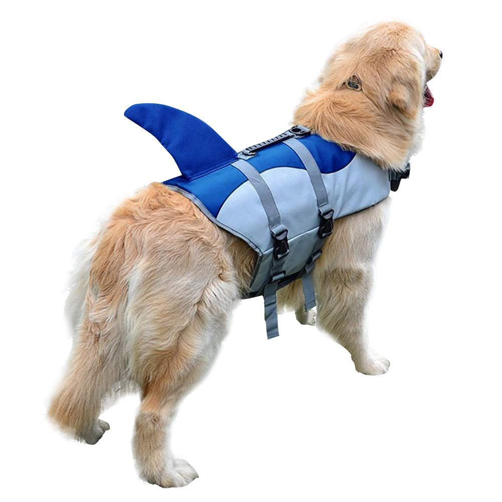 bluee L bluee L Life Jackets For Dogs Pet Floatation Vest Swimsuit Preserver for Water,bluee,L