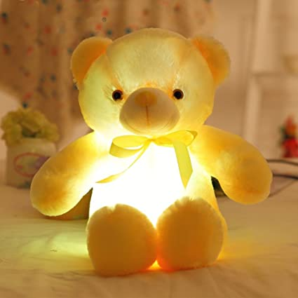 Amazon.com: Glowing Luz Nocturna LED grande, el oso de ...