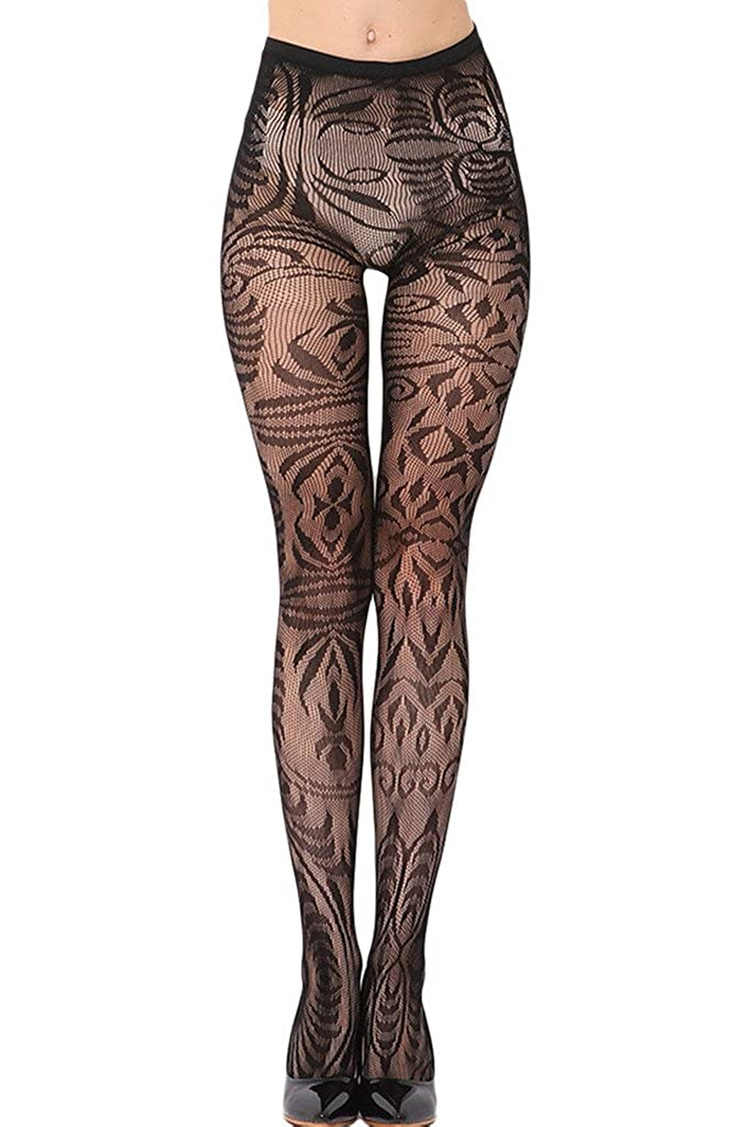 Dokotoo Women Seamless Floral Fishnet Tights WG79801