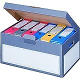 """karton-billiger 5 Stück Archivschachteln Klappdeckel """"Premium"""" mit Boden und Deckel zur Ablage von Ordnern A4"""