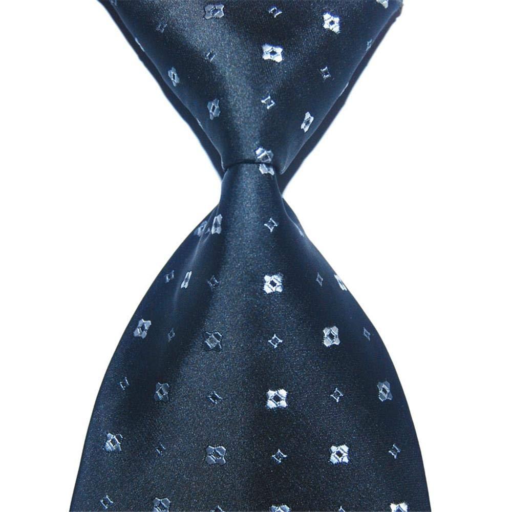 Ghong Tie-Set da 2 Pezzi//Cravatta a Punto da Uomo Cravatta da Festa da Lavoro Jacquard Larga 10 cm