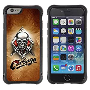 Suave TPU GEL Carcasa Funda Silicona Blando Estuche Caso de protección (para) Apple Iphone 6 / CECELL Phone case / / Skull Knives Russian /