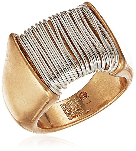 (Robert Lee Morris Womens Bound to Basics Two Tone Wire Wrapped Ring, Size 8.5)