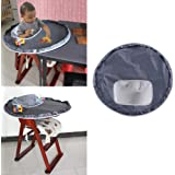 Fineser Baby Dinner Mat Waterproof Highchair Bumper Pad Place Mat Multi-Purpose Playmat for Playing and Feeding 29.5''