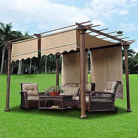 Yescom 2 pcs 15,5 x 4 m toldo para estructura de cama con de repuesto para pérgola, color beige por Yescom: Amazon.es: Hogar