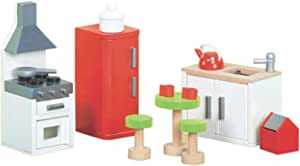 Le Toy Van Dollhouse Furniture Sugar Plum Kitchen Premium Wooden Toys for Kids Ages 3 years & Up