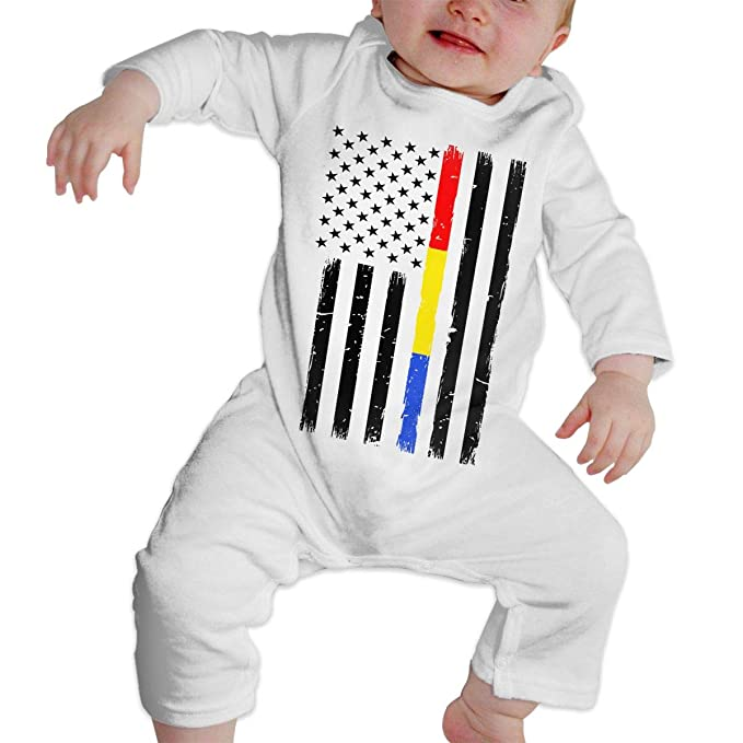 Amazon.com  UGFGF-S3 Thin Red Blue Gold Line Flag Long Sleeve Newborn  Romper Jumpsuit Onsies 6-24 Months Baby Bodysuit  Clothing 12001794b