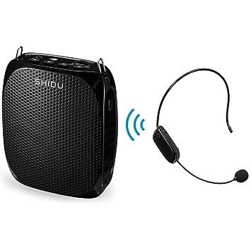 Portatil Inalámbrico Amplificador de voz voz profesores, Estable UHF Amplificadors 10 W con 1800 mAh