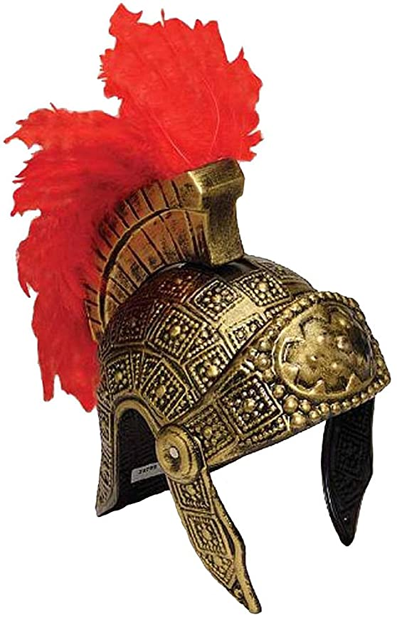 Amazon.com Roman Trojan Warrior Spartan Soldier Costume Helmet with Red Feather Clothing  sc 1 st  Amazon.com & Amazon.com: Roman Trojan Warrior Spartan Soldier Costume Helmet with ...