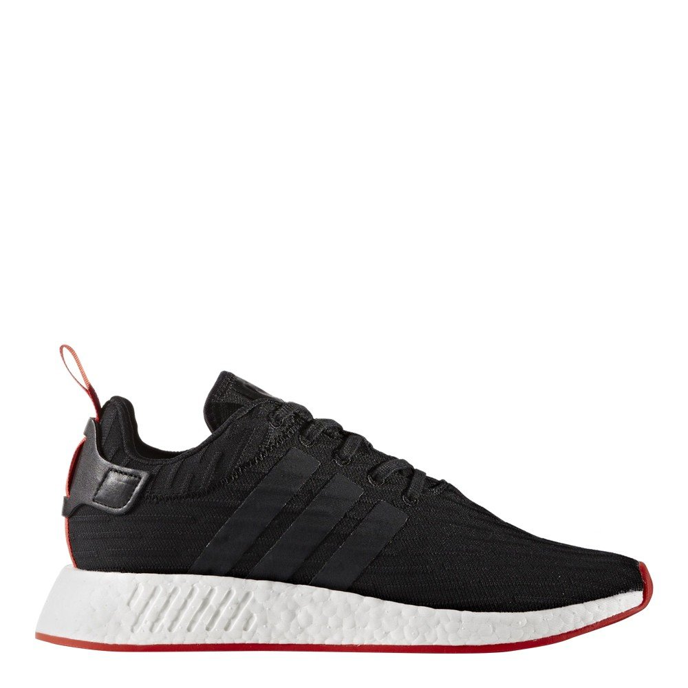 adidas Men's NMD R2 Primeknit BlackRed Ankle High Fabric Athletic Water Shoe 8M