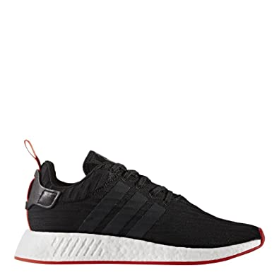 8f28ff001 adidas Men s NMD R2 Primeknit Black Red Ankle-High Fabric Athletic Water  Shoe -