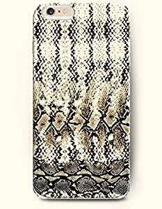 For Ipod Touch 4 Case Cover Case with of Fashion And Beautiful Beige And Black Serpent Pattern - Snake Skin Print -Authentic Skin