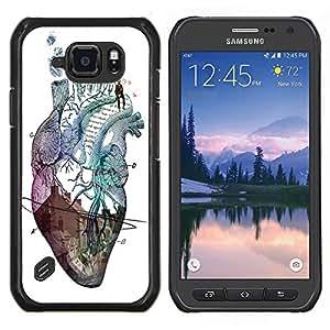 Dragon Case - FOR Samsung Galaxy S6 active/G870A/G890A (Not Fit S6) - Forgetting is so long - Caja protectora de pl??stico duro de la cubierta Dise?¡Ào Slim Fit