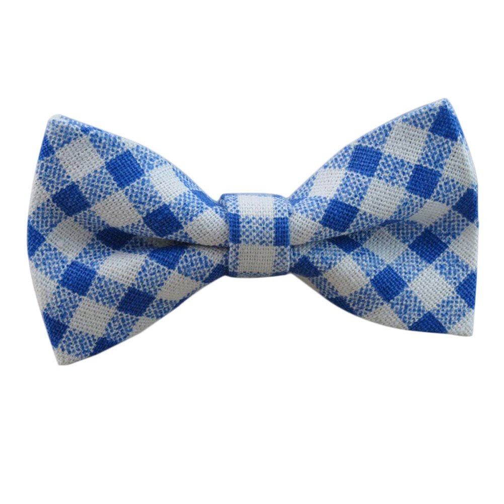 Startby Boys Kids Linen Elastic Band Bow Ties Pre Tied